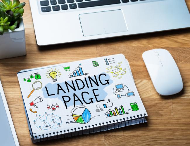 Landingpage auf Papier