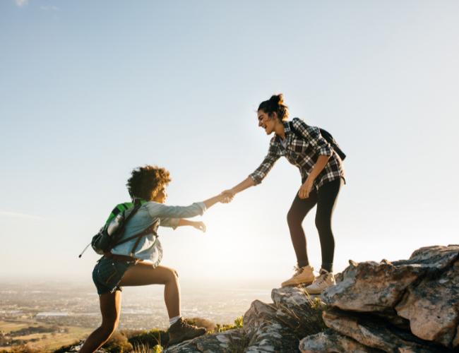 Frauen vertrauen einander - Trust Zertifikate schaffen Vertrauen
