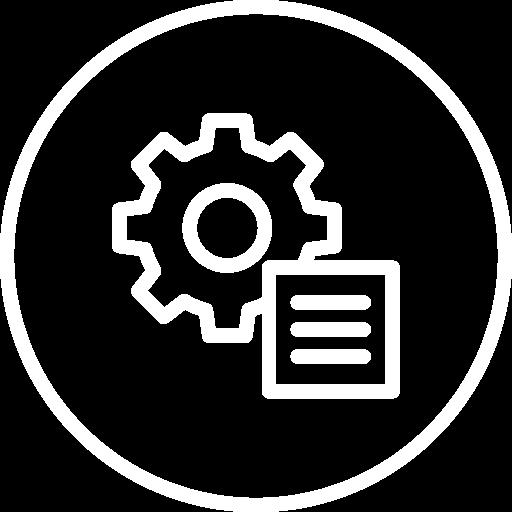 Tim Weisheit Icon Umsetzungsplan weiss