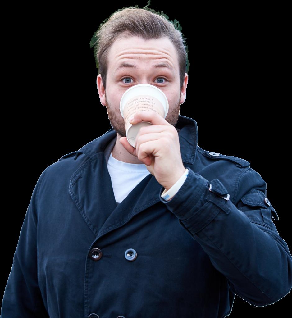 Tim Weisheit Tim mit Kaffee